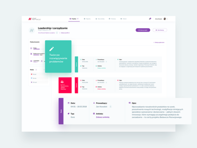 Edu platform - Project Dashboard