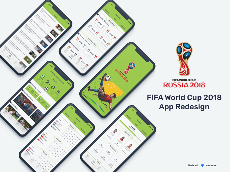 2018 Fifa WorldCup Russia™ - App Redesign Concept world cup 2018 fifa ios app app redesign app soccer football football app