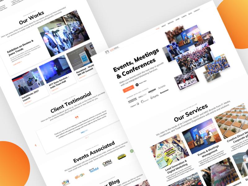 Event Management company website design exhibition conferences event home page landing page ui design website design web design website