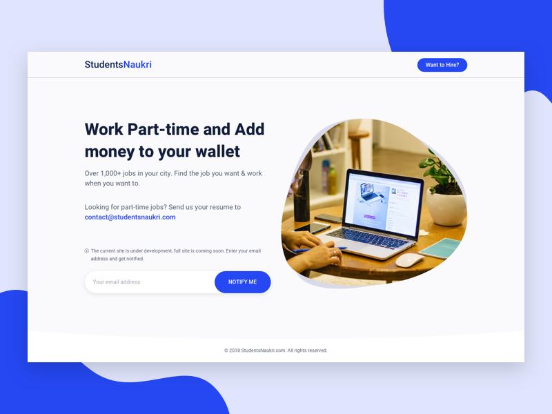 Job portal Coming Soon page ui design web design website coming soon page landing page job portal job