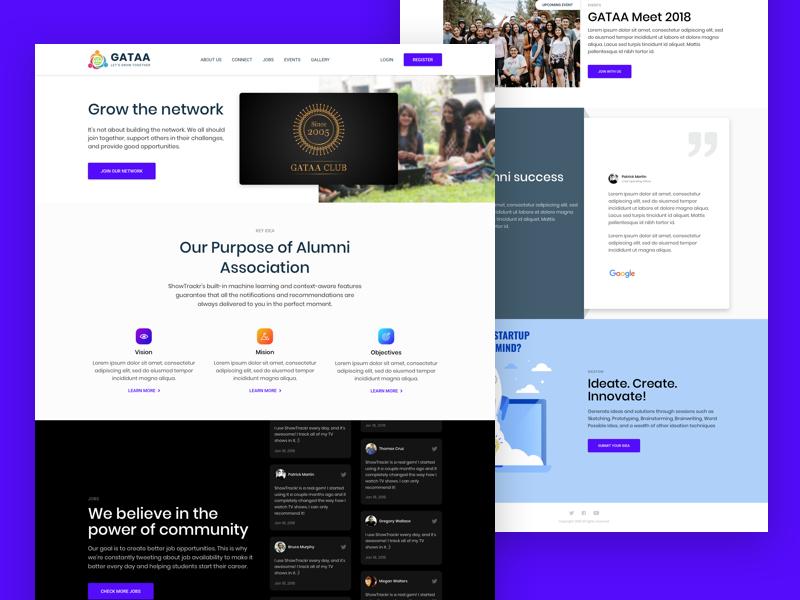 Alumni Website alumni website alumni design website design ui landing page web design ui design website