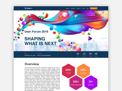 User Conference Website