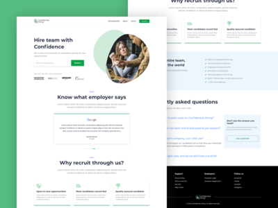 Landing page for Employers - CoHiring