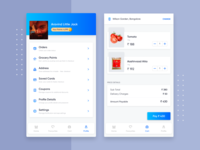 Grocery App - Profile & Cart