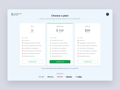 Pricing - Job Portal