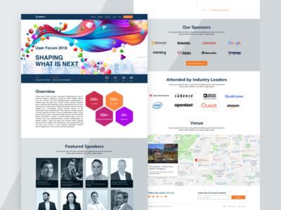 Stratasys User Forum 2018 - Landing Page