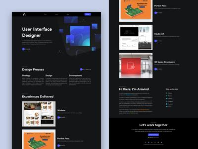 Personal Portfolio Website - Dark Theme V1.0
