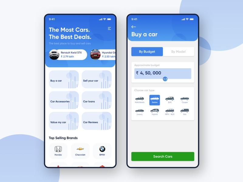 Car Marketplace App aravindlittlejack accessories interface ecommerce sell buy car marketplace marketplace auto car app design app ui ui ui design