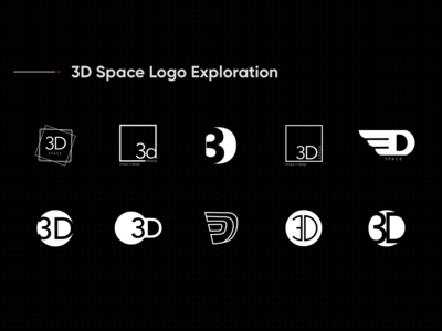 3d Space Logo Exploration