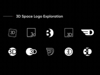 3d Space Logo Exploration
