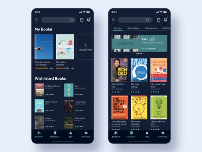 Bookstore App - Dark theme