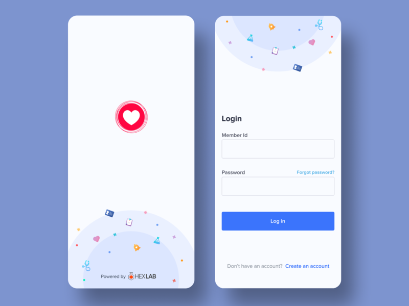 Health App - Login & Splash Screen