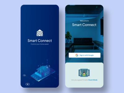 Smart Home App - Login & Splash Screen