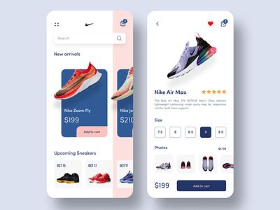 Nike Shoe App sneakers nike air running shoes nike running ecommerce ecommerce app shoe purchase shoe store shoe app nike shoes nike air max nike ios ui app design ui design
