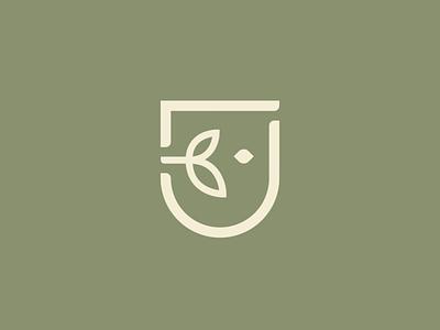 DL Dietotherapy Logo minimalist design branding logo mark mark brand logo diet green leaf plant face health
