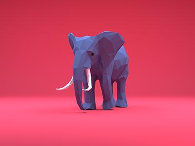 Elephant 00046 3danimation model 3d elephant animation