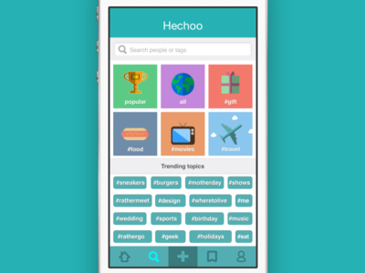 Hechoo search screen