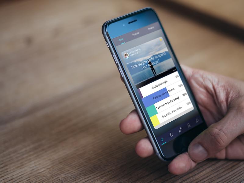 Poll App by Nicolas Magendie on Dribbble