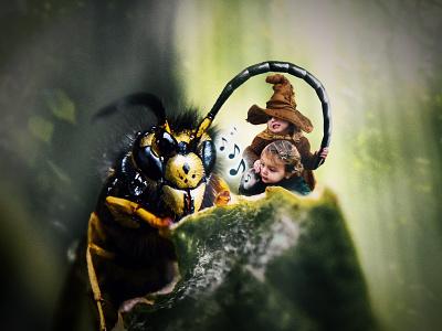Enchantresses enchanted magic children forest photo editing composite digital 2d digital art photo manipulation