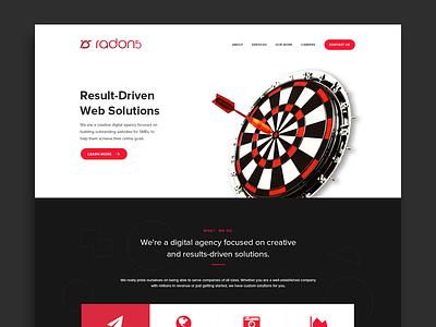 Radon5 - Agency Webpage home web design web agency landing page