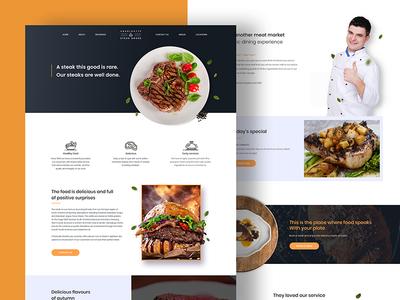 Restaurant Website Design clean website web design restaurant