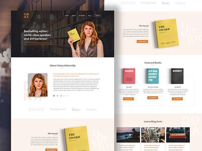 Author website modern clean website book author