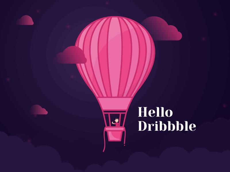 Hello Dribbble! hello dribble first shot debut shot debut