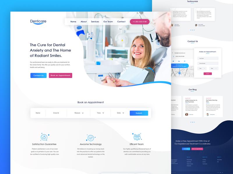Dental Website Design website design clean modern dental clinic dentist dental web design