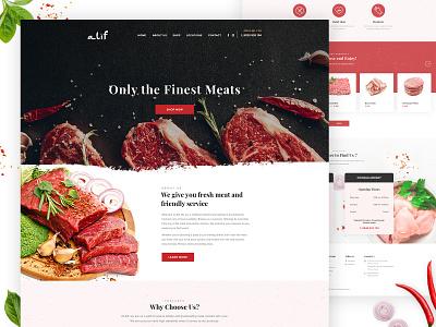 Meat Store Website Design meat market beef food butcher web design store meat
