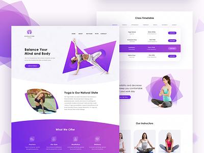 Web Design for a Yoga Studio yoga pose meditation health fitness yoga website design web design