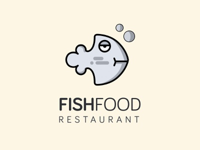 Fish restaurant logo design idea fish icon clean logo modern logo logodesign