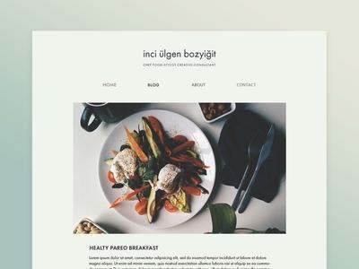 Modern lifestyle blog page