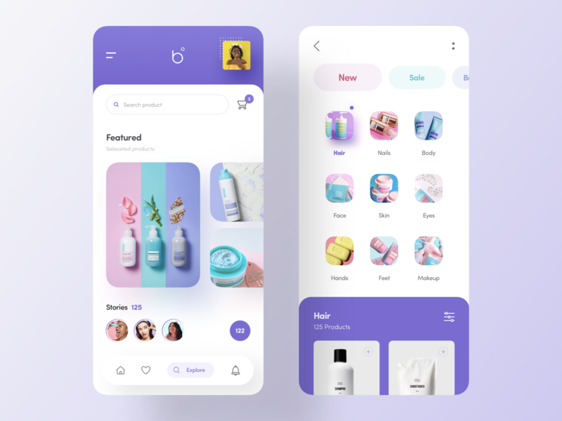 b cosmetic iphonex cosmetics ios uidesign beauty shopping app