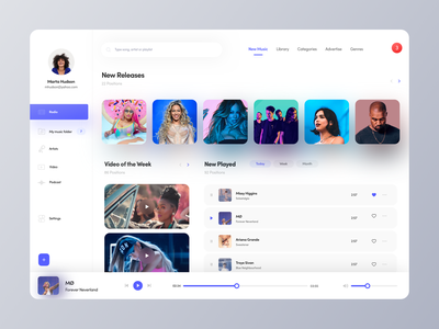 Music Player albums playlist songs ux ui music player music album