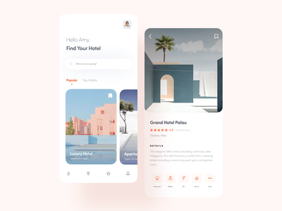 Hotels airbnb iphonex ios app booking hotel booking
