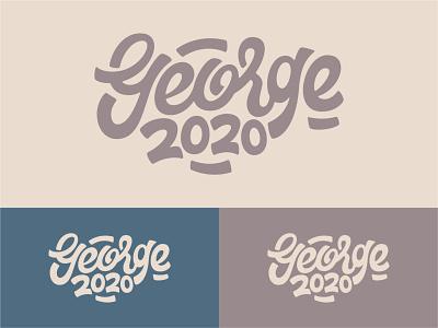 George 2020 - Colour Variations apple pencil vector illustration george vector ipad pro art procreate design illustration hand lettering type design lettering typography