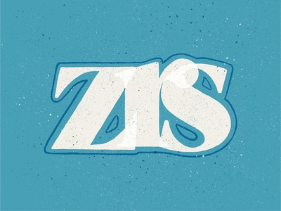 ZRS blue zrs ipad pro texture procreate design illustration hand lettering type design lettering typography