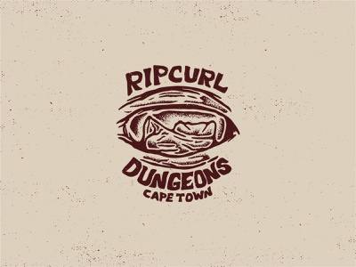 Dungeons - Digital thattypeguy tee print fashion hout bay dungeons surfing rip curl illustration texture design