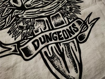 Dungeons - Print thattypeguy tee print fashion rip curl dungeons ipad pro art procreate texture design illustration typography