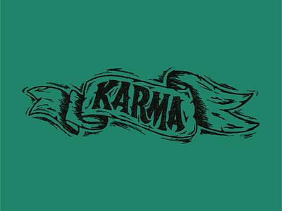 Karma Scroll ipad art adobe fresco wip sketch texture design illustration hand lettering type design lettering typography