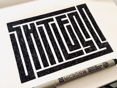 Shitless grid texture staedtler illustration moleskin sketch wip micron rotring calligraphy design hand lettering type design lettering typography