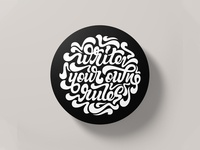 Write Your Own Rules Sticker Mule Coaster Competition Entry