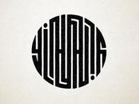 Circular Yin Yang Ambigram