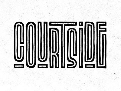 Courtside B&W dribbble dribbble courtside grid apple pencil sketch ipad pro art ipad pro procreate texture design illustration hand lettering type design lettering typography