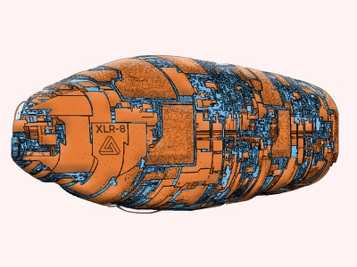 XLR-8 SPACESHIP 3d space design comic art illustration 3d lineart zbrush pixlogic keyshot