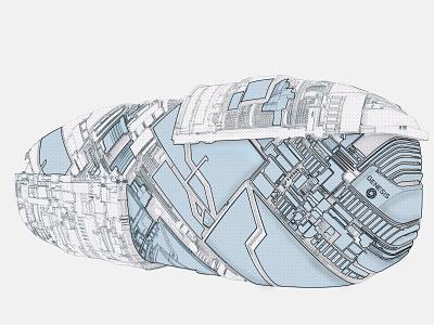 Genesis comic art space design 3d 3d lineart zbrush pixlogic keyshot