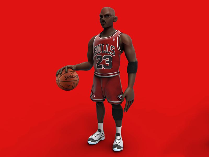 Michael Jordan characterdesign design keyshot 3d zbrush pixlogic