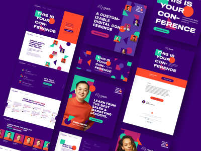 G2 Reach 2020 Conference Branding banners email design landing pages social images speakers digital conference branding