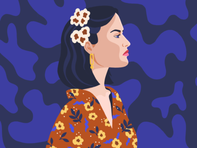 Woman in Florals