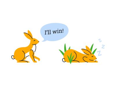 Boastful Rabbit & Lazy Rabbit